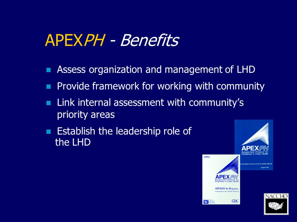 APEXPH – Limitations LHD focused Measures may be out of date Part 3 not well developed Did not provide adequate attention to EH Part 3