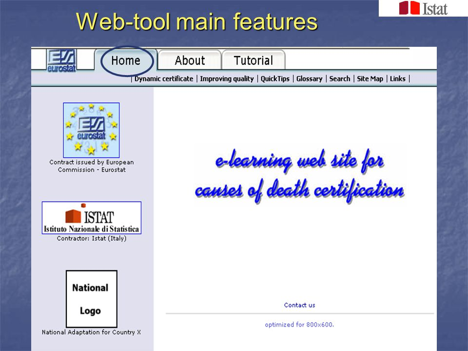 Web-tool main features