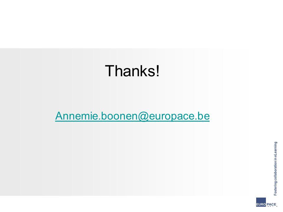 Thanks! Annemie.boonen@europace.be