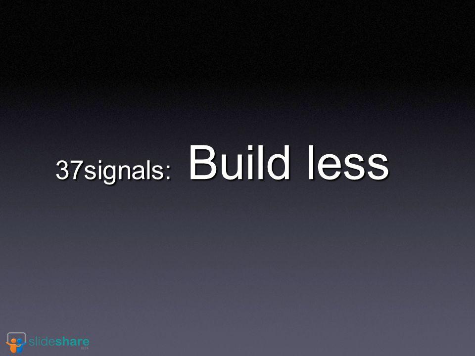 37signals: Build less