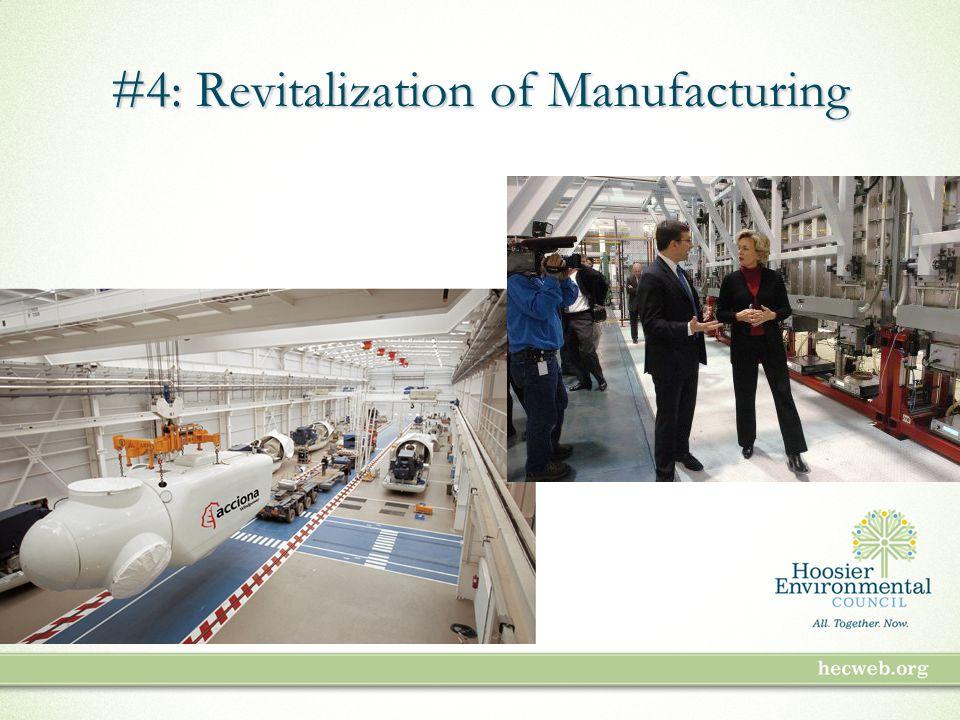 #4: Revitalization of Manufacturing