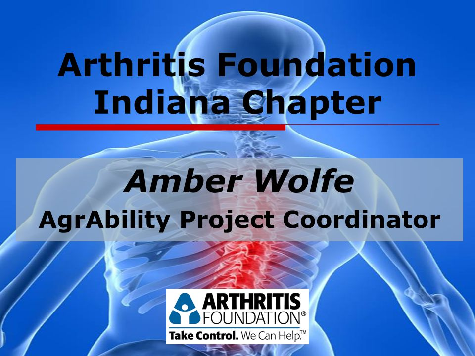 Arthritis Foundation Indiana Chapter Amber Wolfe AgrAbility Project Coordinator
