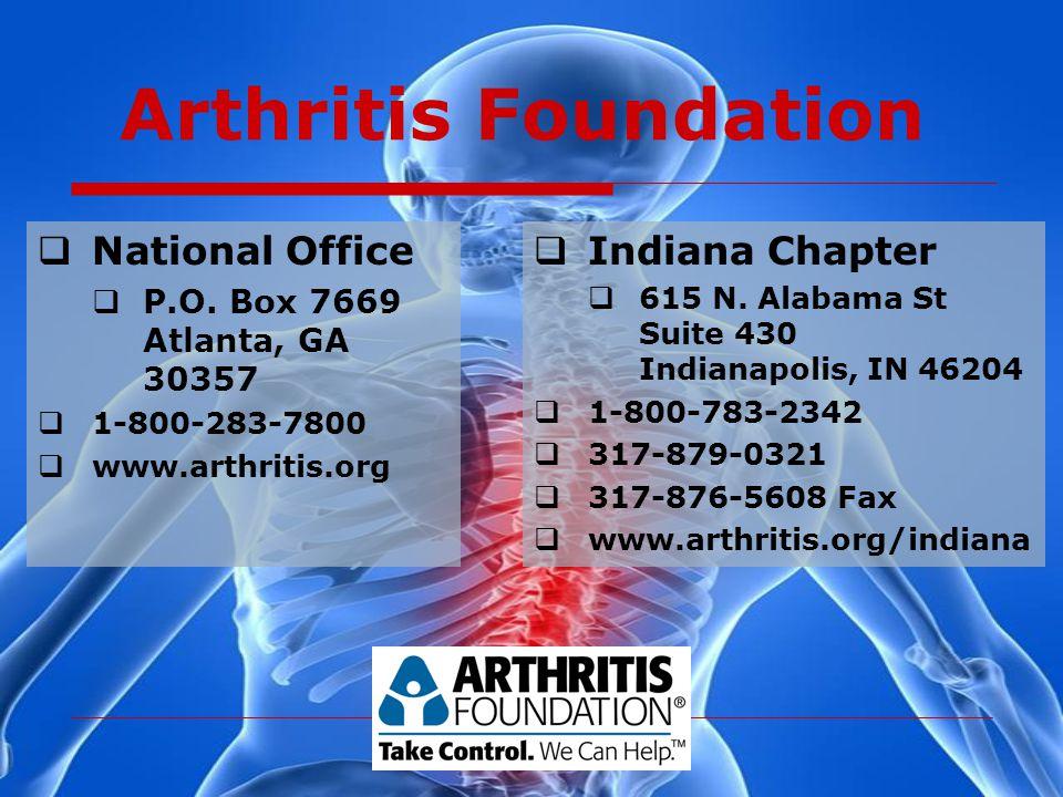 Arthritis Foundation  National Office  P.O.
