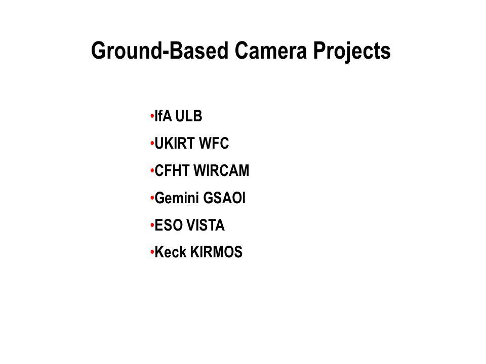 Ground-Based Camera Projects IfA ULB UKIRT WFC CFHT WIRCAM Gemini GSAOI ESO VISTA Keck KIRMOS