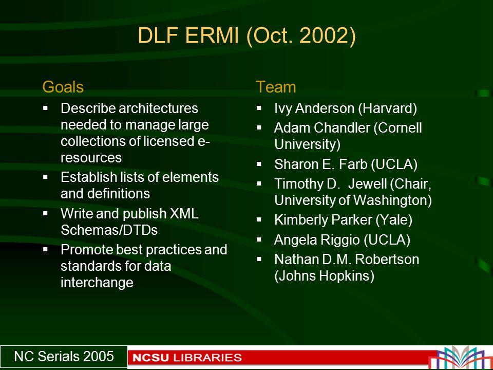 NC Serials 2005 DLF ERMI (Oct.