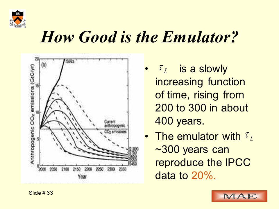 Slide # 33 How Good is the Emulator.