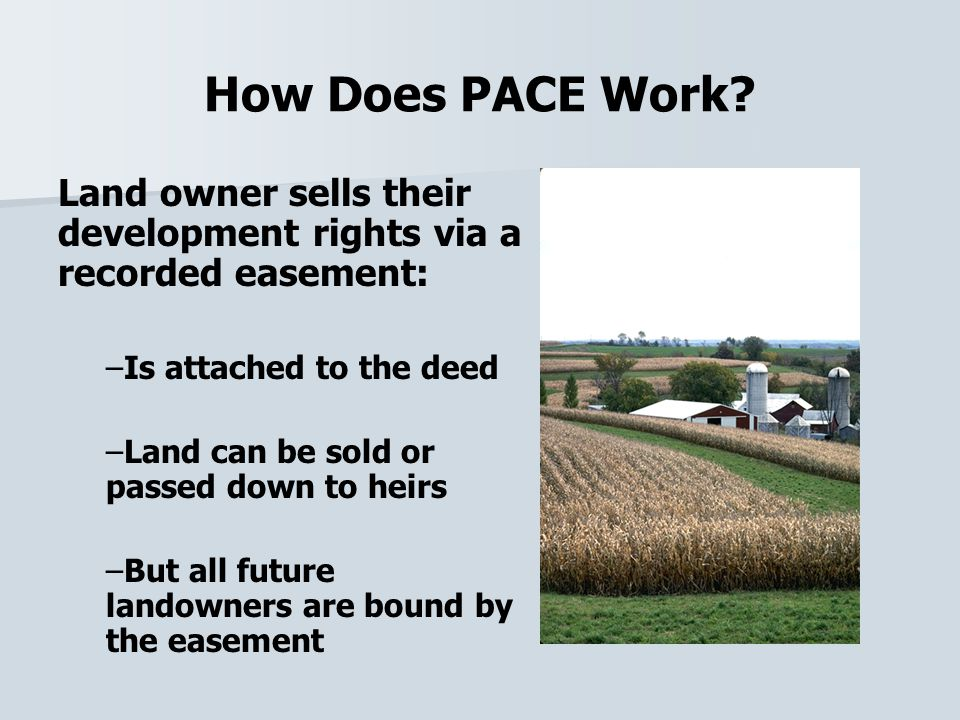 How Does PACE Work.