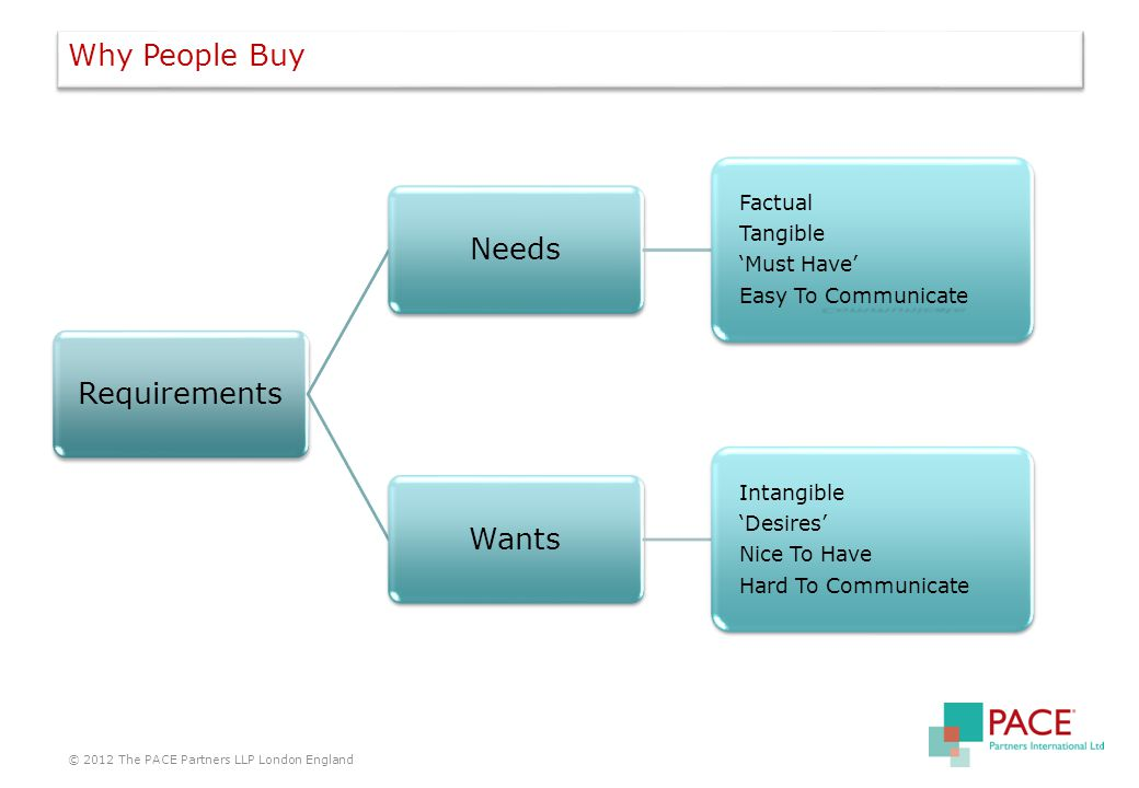 Why People Buy © 2012 The PACE Partners LLP London England