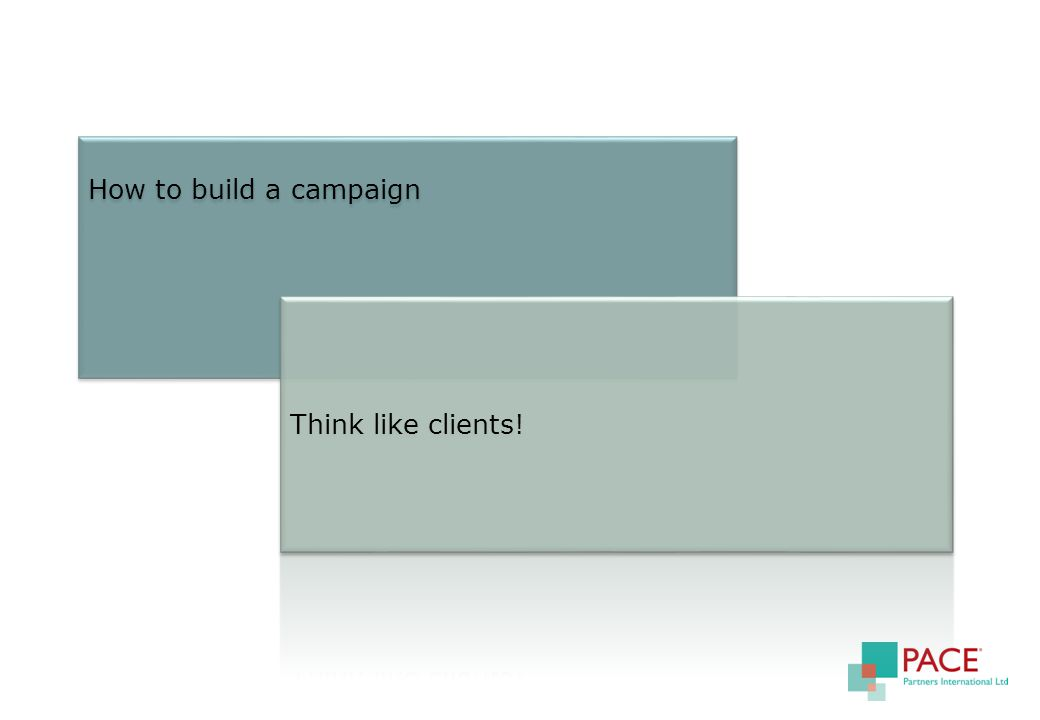 How to build a campaign