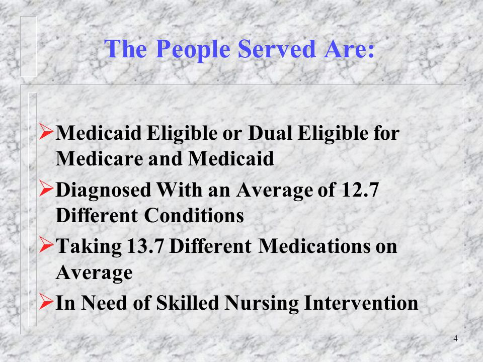 5 Wisconsin Has Implemented Two Programs Fully Integrate Medicare and Medicaid Services  Program of All-Inclusive Care for the Elderly (PACE)  The Wisconsin Partnership Program