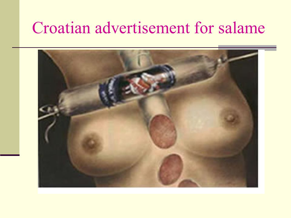Croatian advertisement for salame