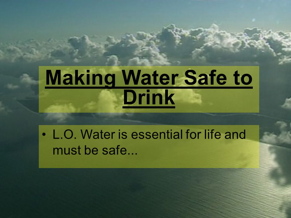 Which cup of water would you drink? Click on your choice... AB C