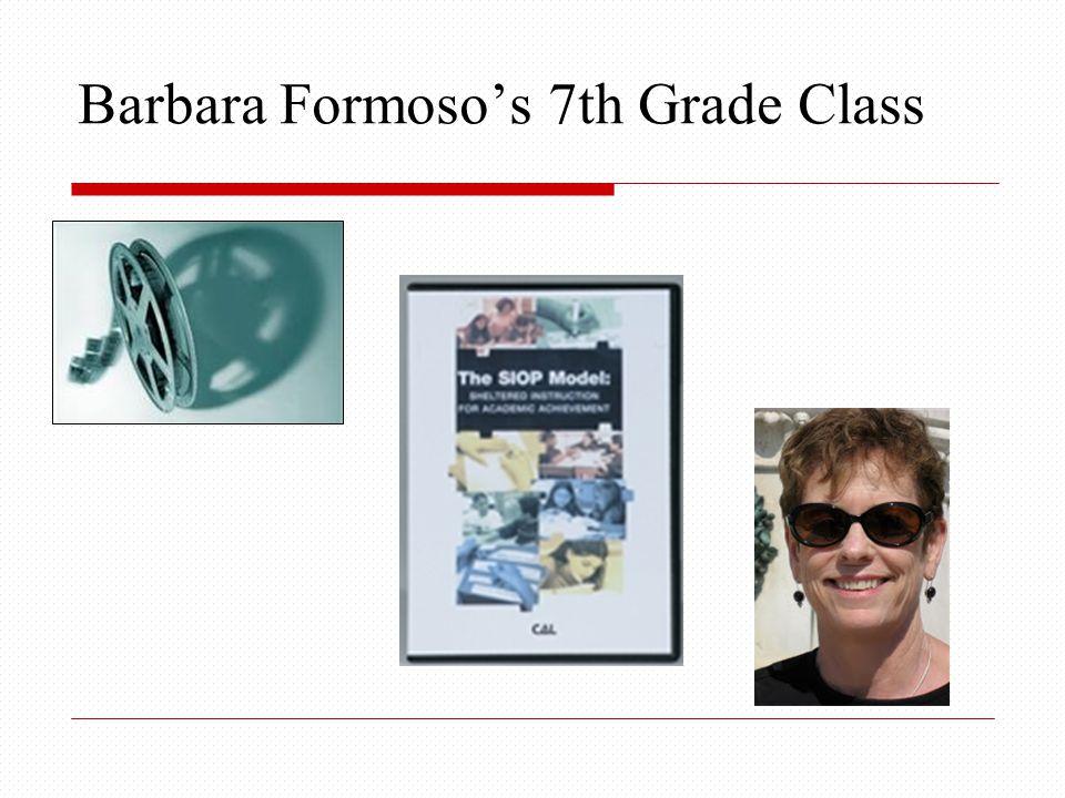 Barbara Formoso's 7th Grade Class
