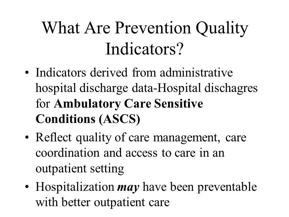 Prevention QIs