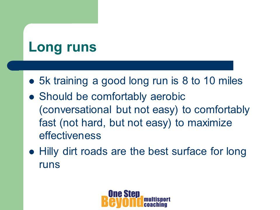 Running drills High knees / fast feet Sideways Bounds (skips) Heel kicks Strides 1 or 2 times per week to improve stride efficiency