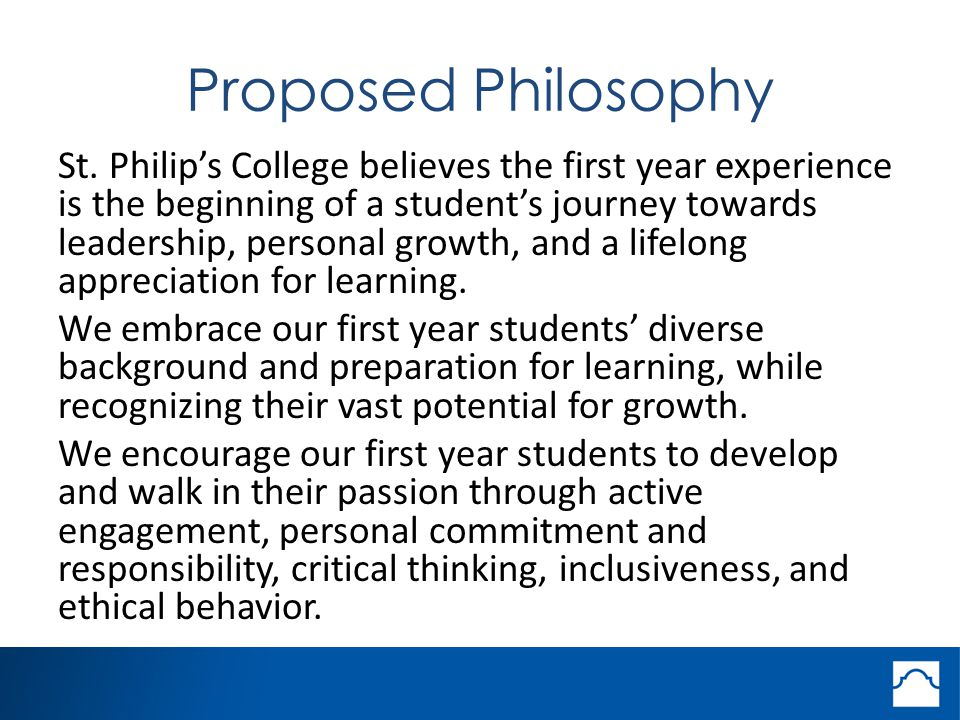 Proposed Philosophy St.