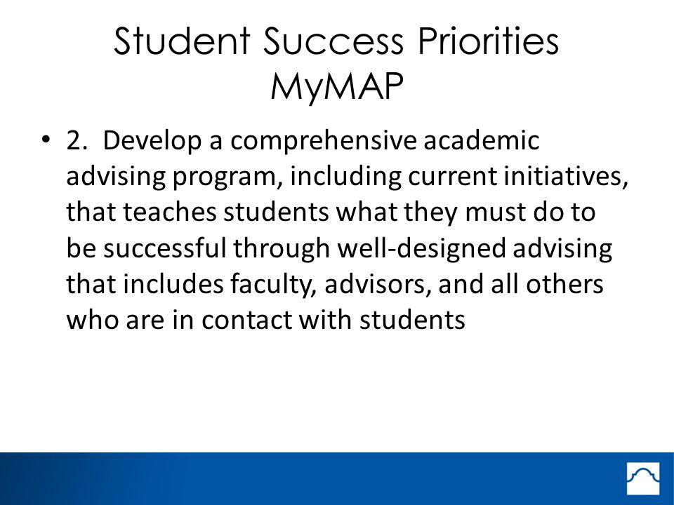 Student Success Priorities MyMAP 2.