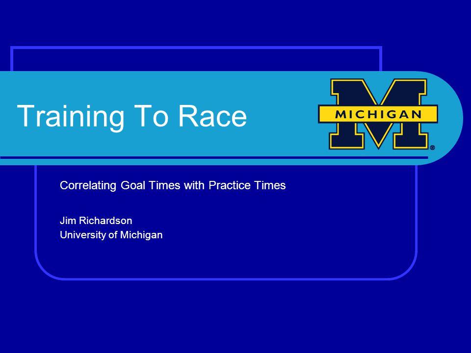 Training to Race My Journey (still in progress) Volume vs.