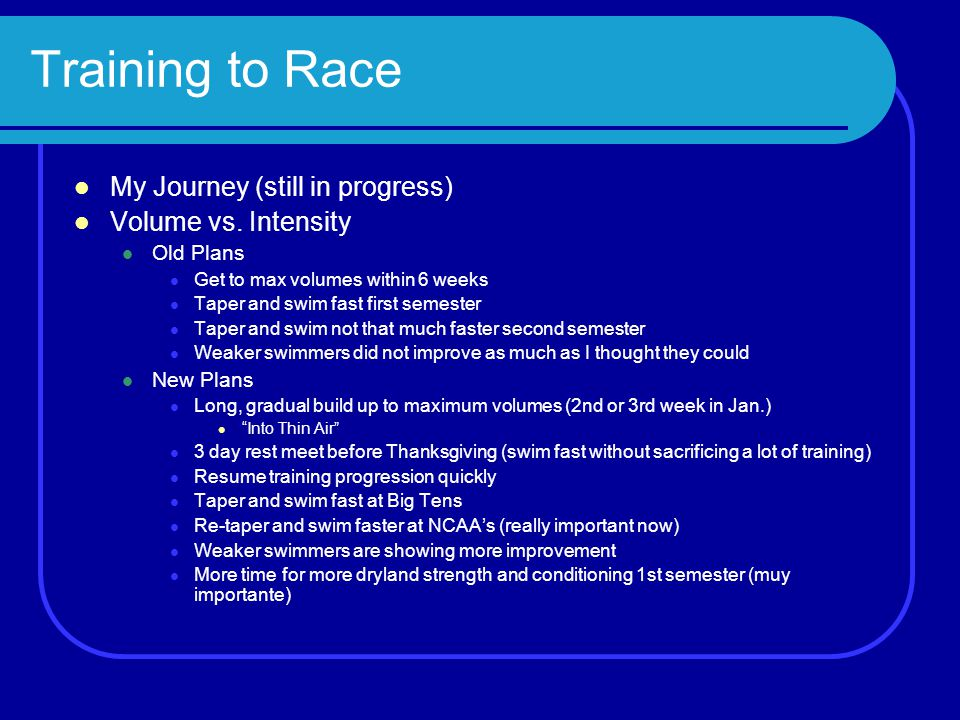 Training Periodization jimrich@umich.edu Mindset by Dr. Carol Dweck