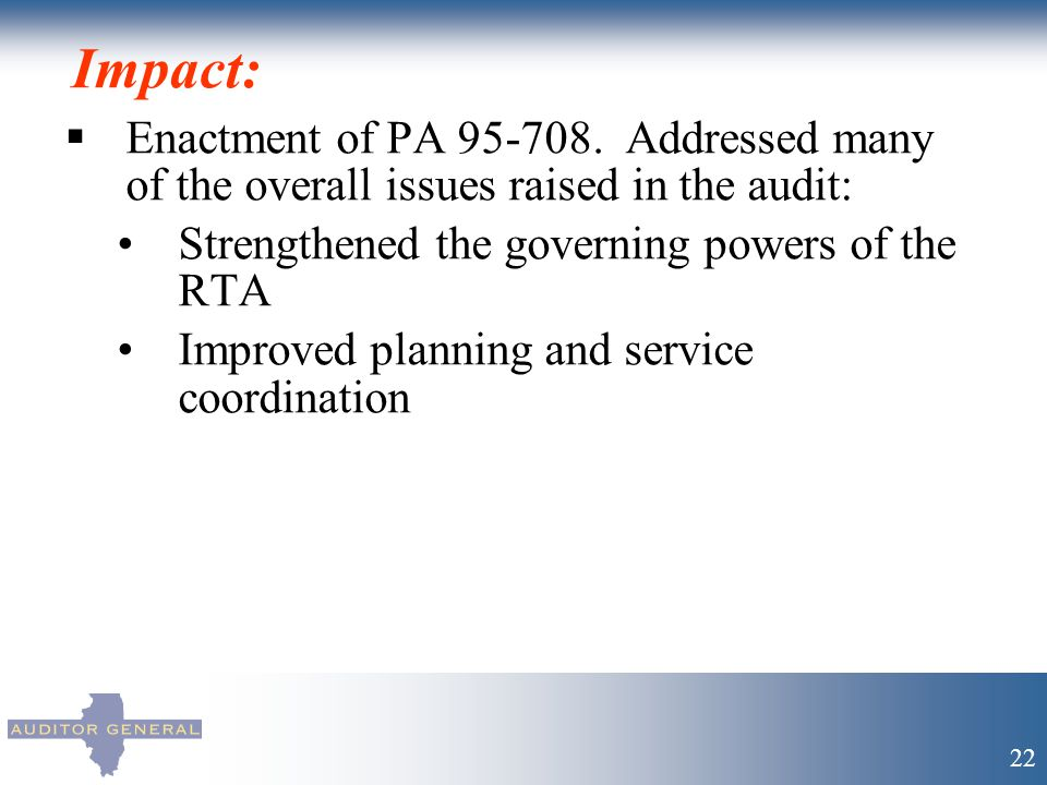 Impact:  Enactment of PA 95-708.