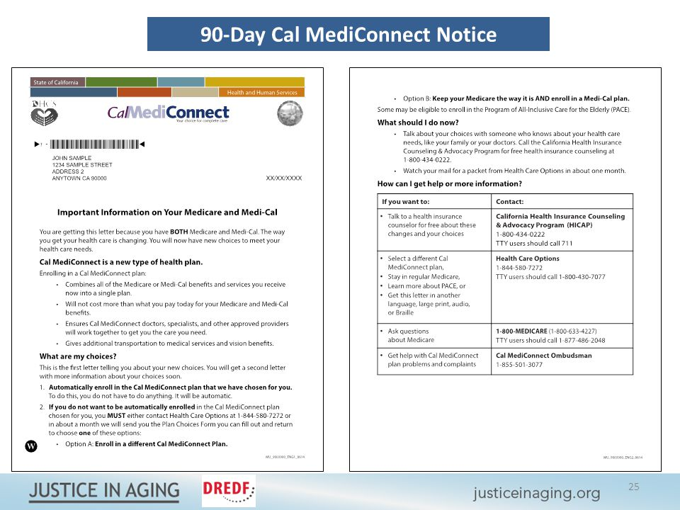 90-Day Cal MediConnect Notice 25