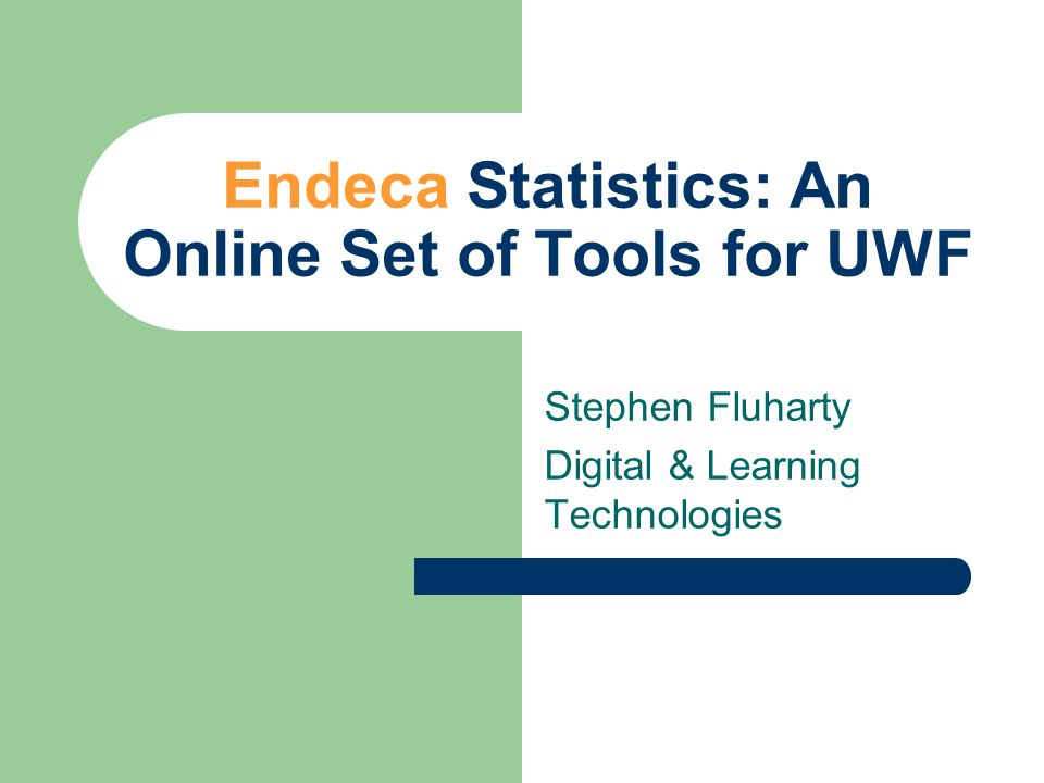 Culmination of 8 Months of Endeca Statistics Gathering