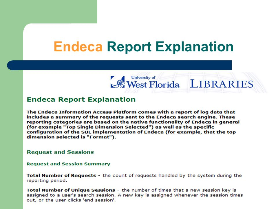 Endeca Report Explanation
