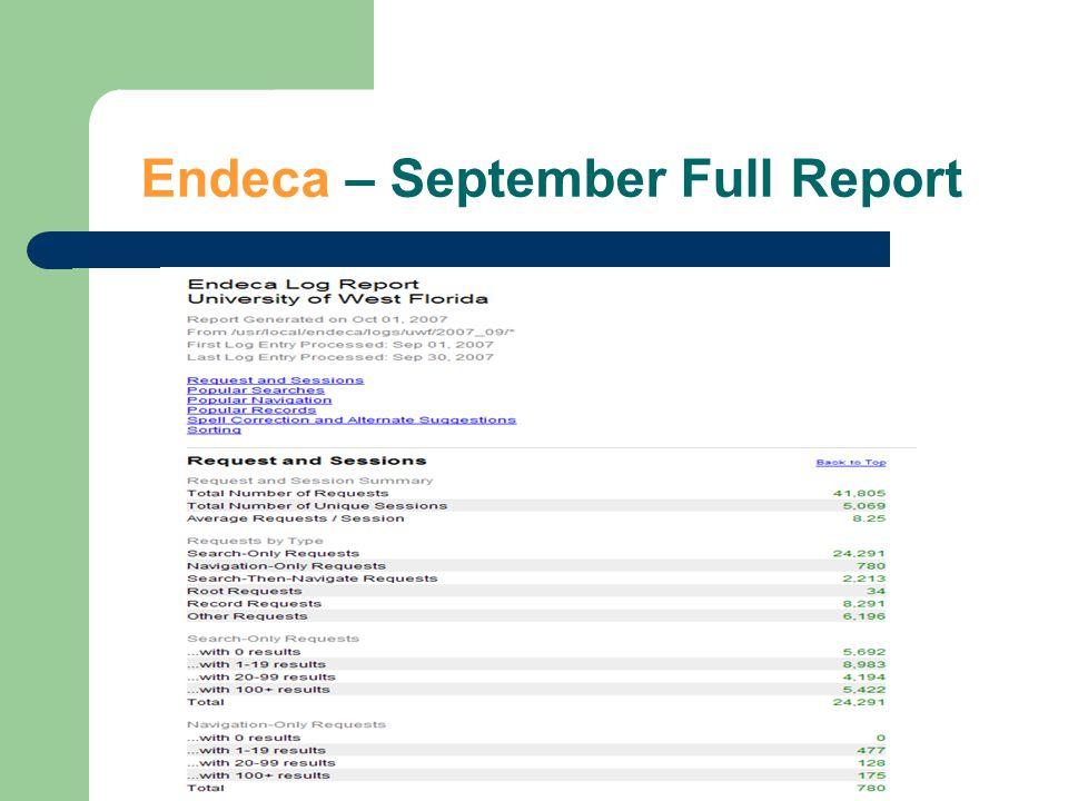 Endeca – September Full Report