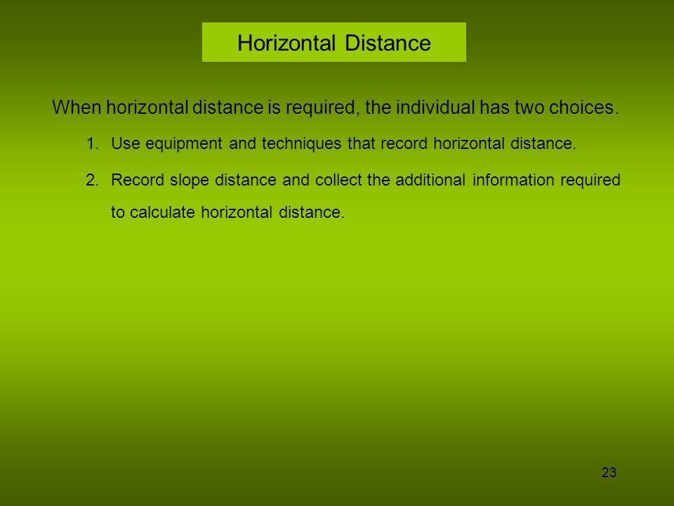 24 Measuring Horizontal Distance Chain Stadia EDM