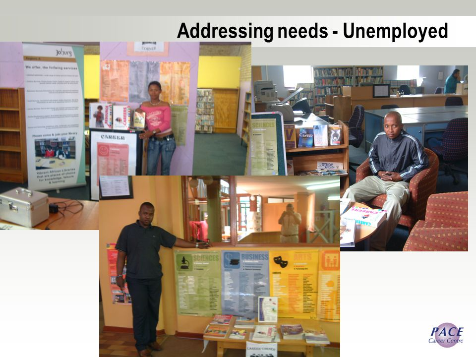 Addressing needs - Unemployed