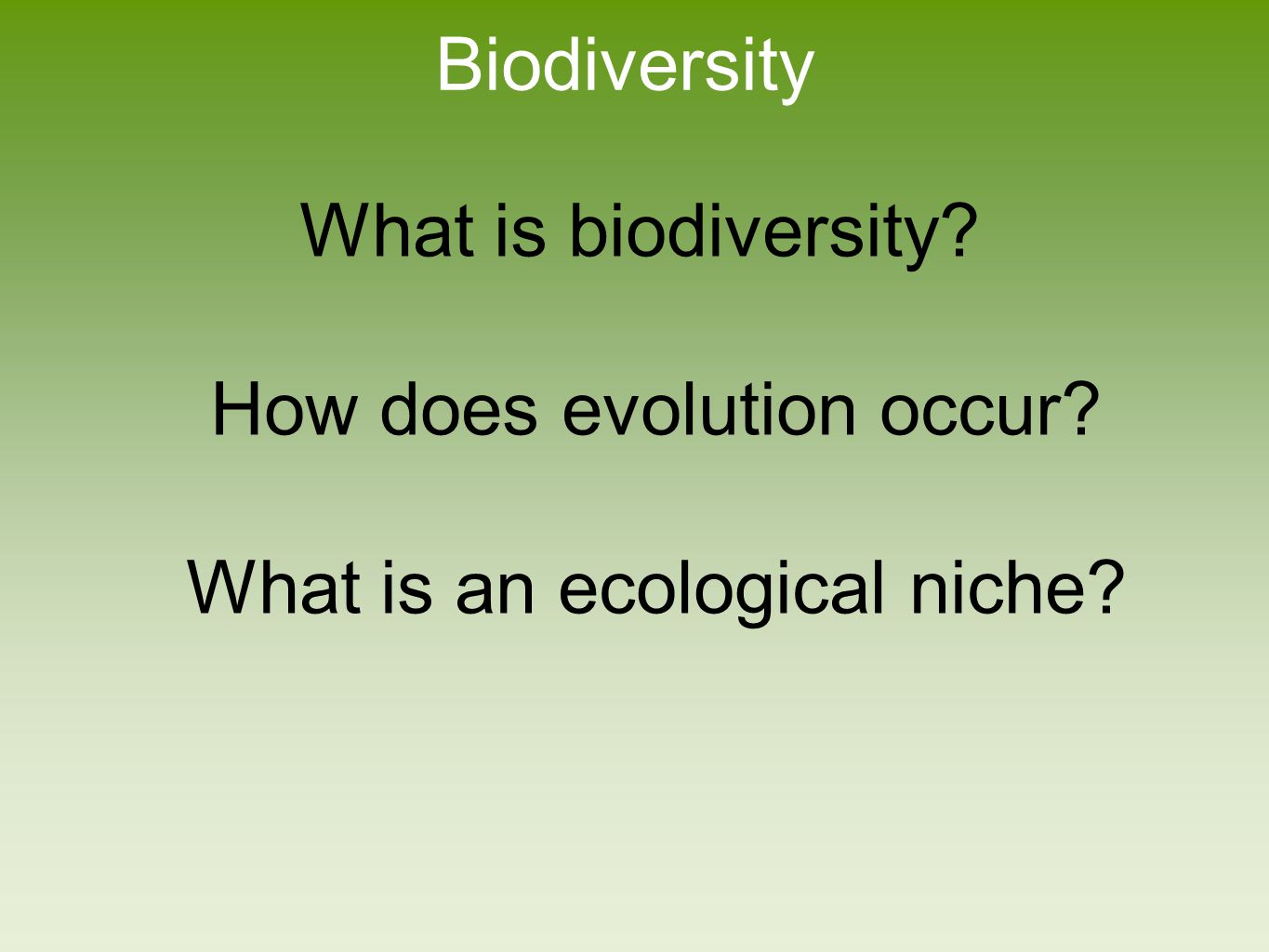 Earth is Home to a Tremendous Diversity of Species Ecosystem diversity―the variety of ecosystems within a given region