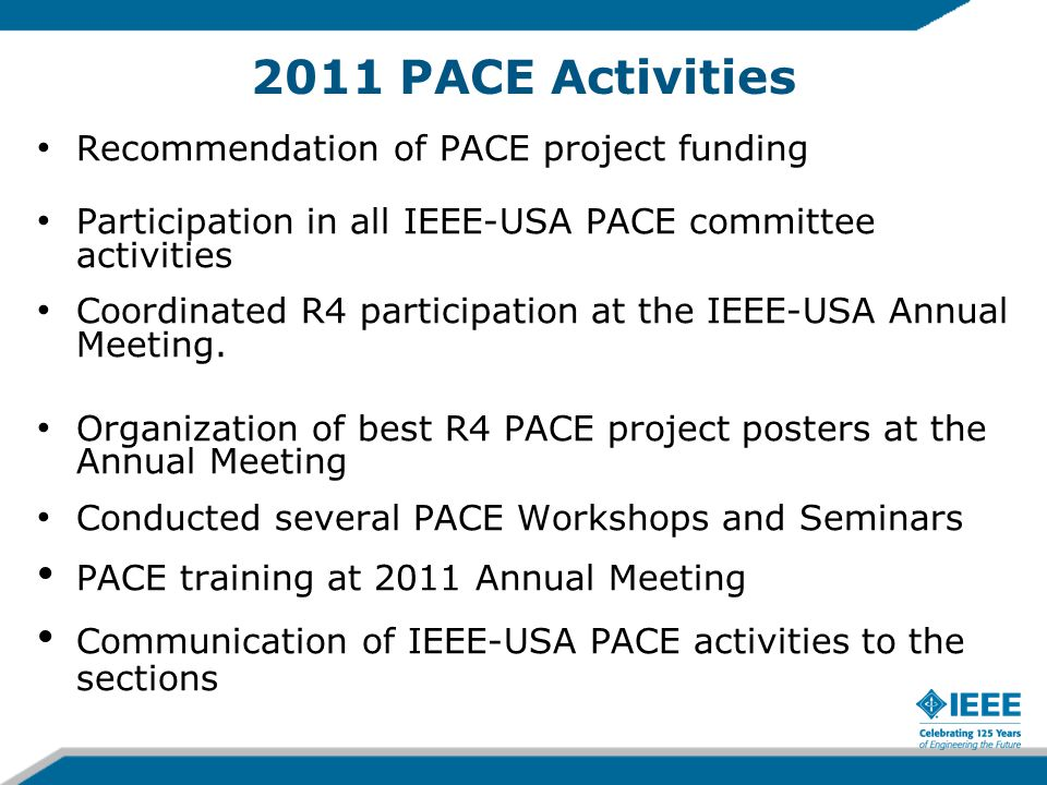 2011 PACE Projects