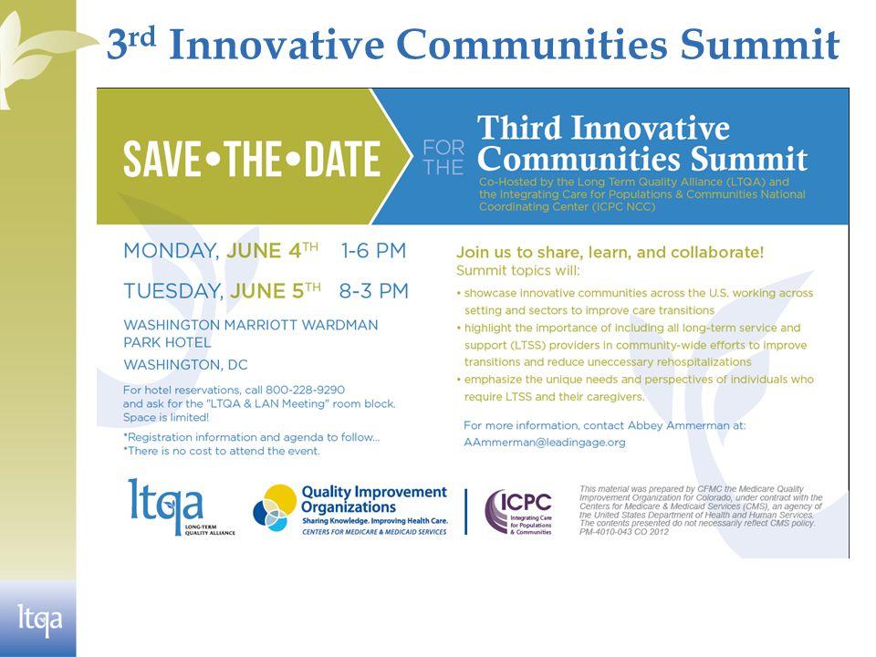 3 rd Innovative Communities Summit