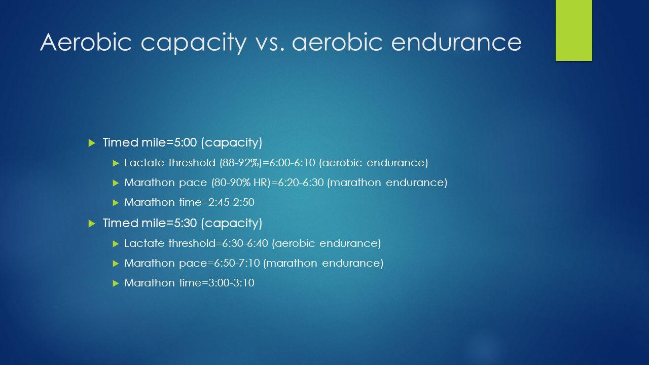 Aerobic capacity vs.