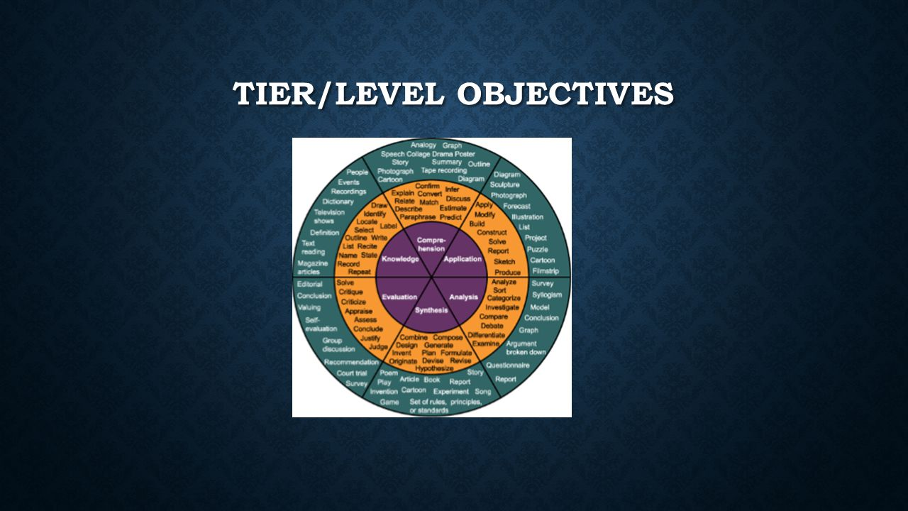 TIER/LEVEL OBJECTIVES