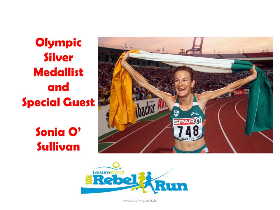 Olympic Silver Medallist and Special Guest Sonia O' Sullivan www.corksports.ie
