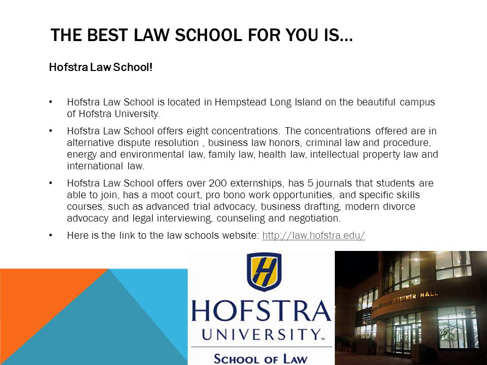 THE BEST LAW SCHOOL FOR YOU IS… Hofstra Law School.