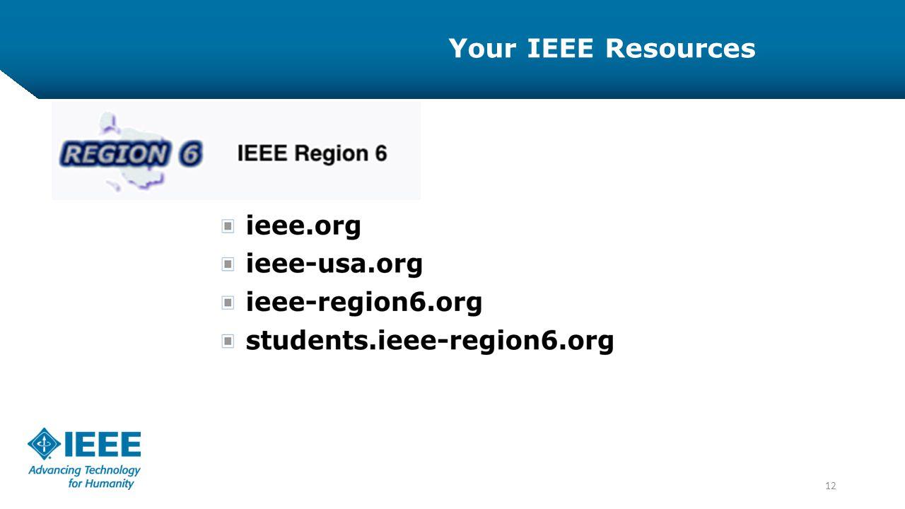 12 Your IEEE Resources