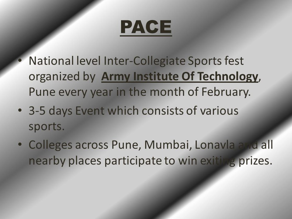 PACE'15  University Connections.