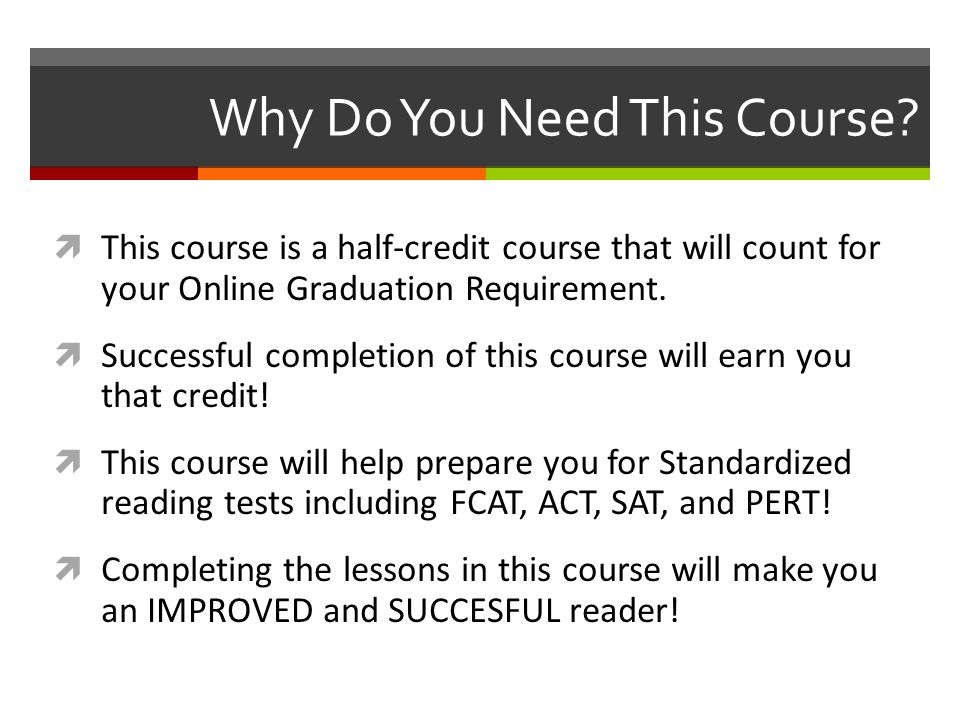 Why Do You Need This Course.