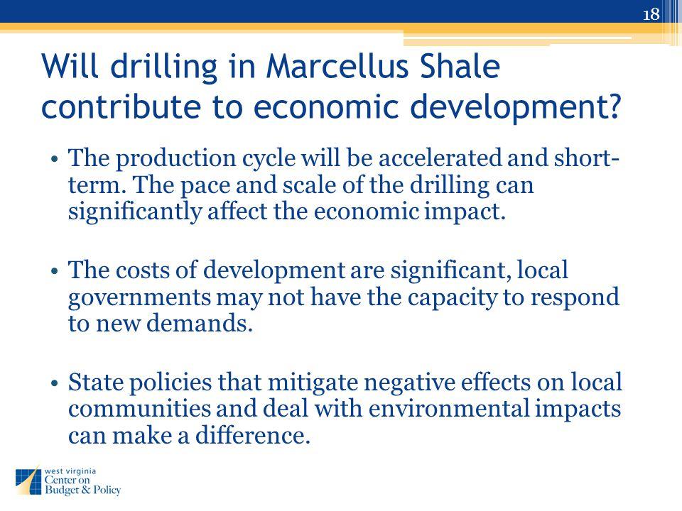 Will drilling in Marcellus Shale contribute to economic development.