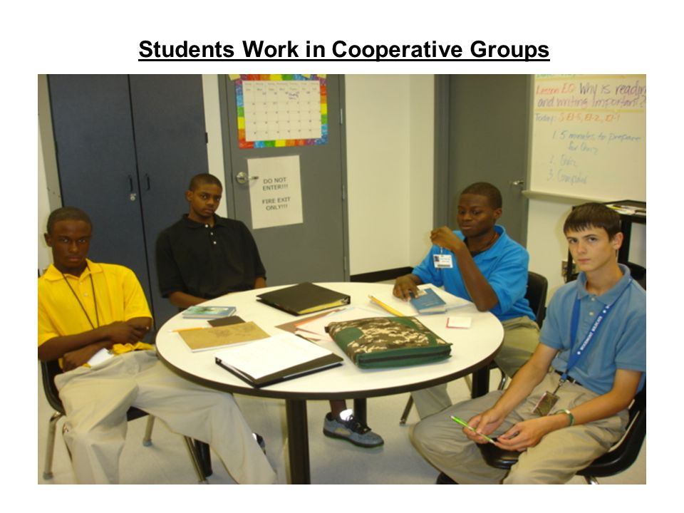 Students Work in Cooperative Groups