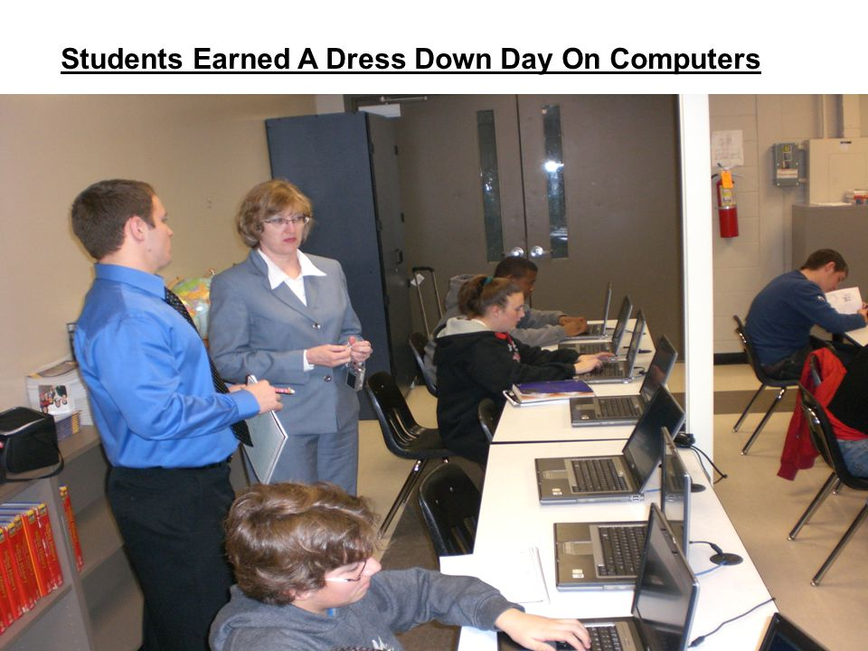 Students Earned A Dress Down Day On Computers
