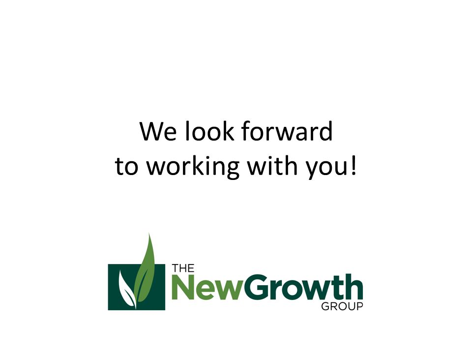 We look forward to working with you!