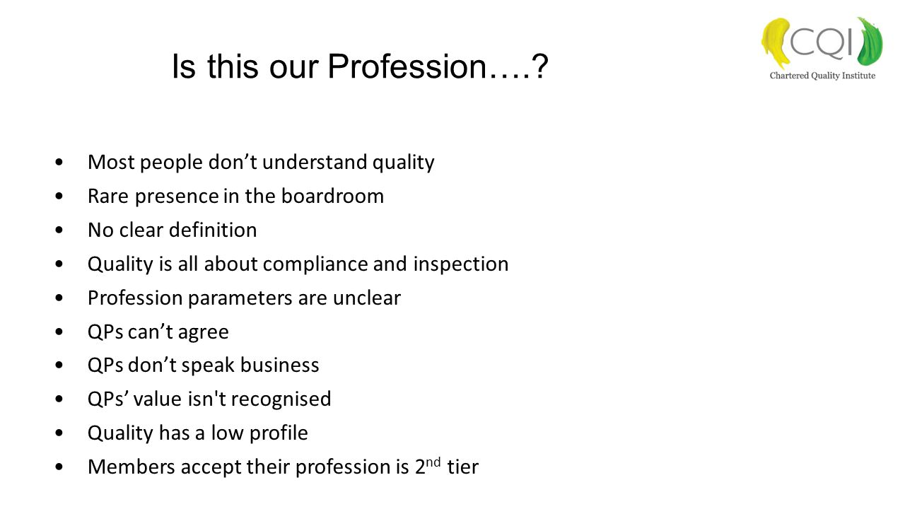 Is this our Profession…..