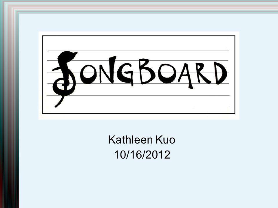 Kathleen Kuo 10/16/2012