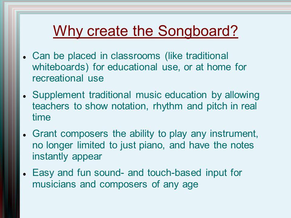 Why create the Songboard.