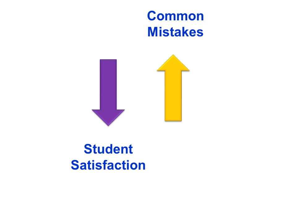Student Satisfaction Common Mistakes
