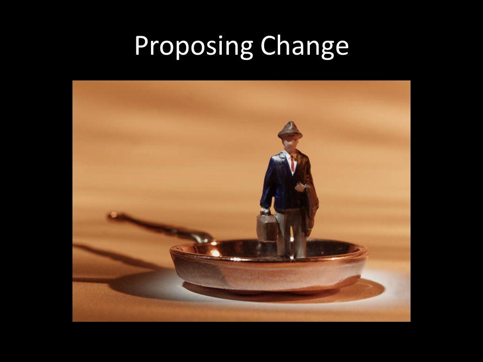 Proposing Change