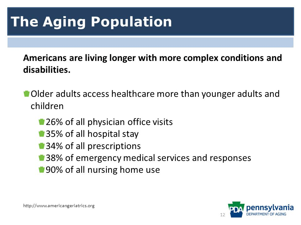 Americans are living longer with more complex conditions and disabilities.